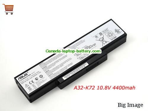 ASUS A32-K72 Battery 4400mAh, 48Wh  10.8V Black Li-ion