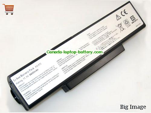 ASUS A32-K72 Battery 6600mAh 10.8V Black Li-ion