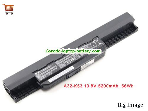 Canada ASUS A42-K53 A32-K53 ASUS A43 A53 Series Laptop Battery 6 Cell