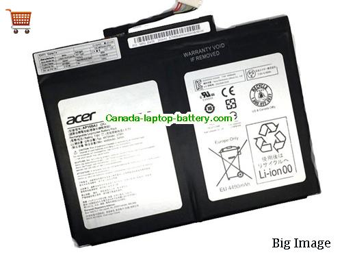 Canada Genuine ACER AP16B4J Battery For Aspire Switch Alpha 12 SA5-271 series
