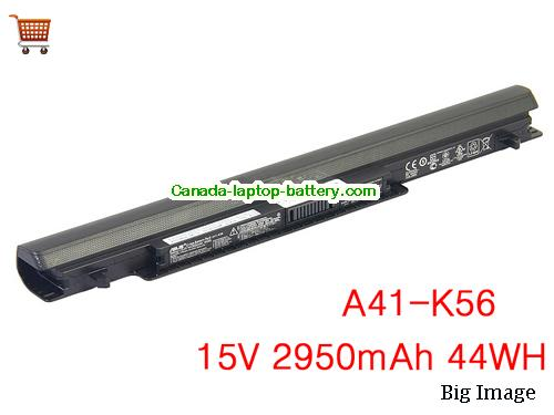 Canada Genuine A41-K56 battery for ASUS K46 S56 S46CM S505 S505C E46CA laptop 15V