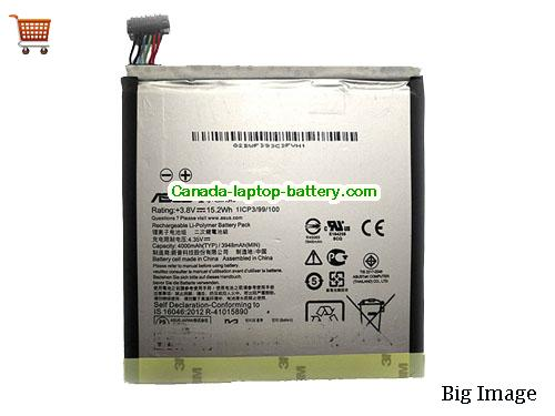 ASUS C11P1510 Battery 4000mAh, 15.2Wh  3.8V Black Li-ion