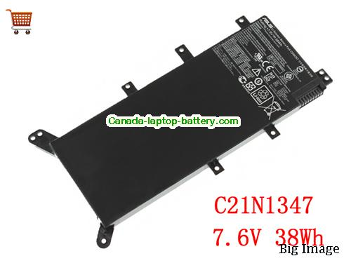 ASUS X555QA-DM2019T Battery 38Wh 7.6V Black Li-Polymer
