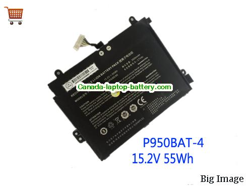 Canada CLEVO P950BAT-4 Laptop Battery 3500mah 15.2v 55wh