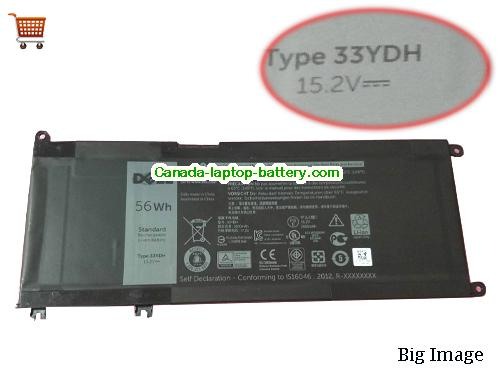 Canada DELL 33YDH Battery For inspiron 17 7778 7779 Laptop, 15.2v 56Wh