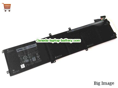 Canada Genuine DELL 4GVGH RRCGW Battery 84Wh 11.4V 7260mah