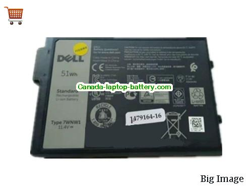 Canada 7WNW1 Battery For Dell Li-Polymer 11.4v 4342mAh 51Wh