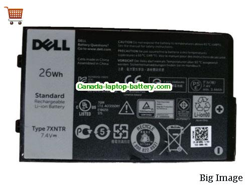 Canada Genuine 7XNTR FH8RW J7HTX Battery For Dell Latitude 7202 Laptop