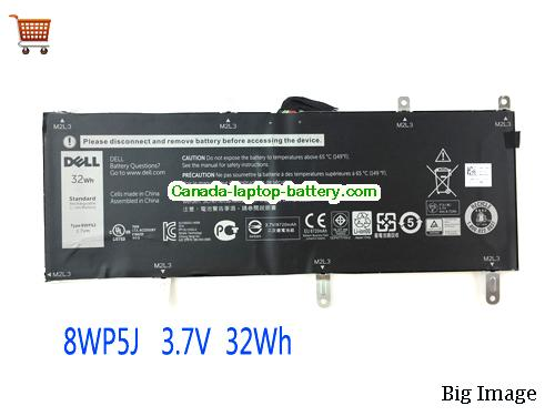Canada DELL 8WP5J Rechargeable Li-Polymer battery For Venue 10 Pro 5000