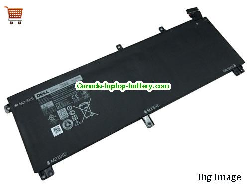 Canada Genuine H76MV T0TRM 61Wh Battery For Dell Dell XPS 15 9530 Precision M3800 Laptop
