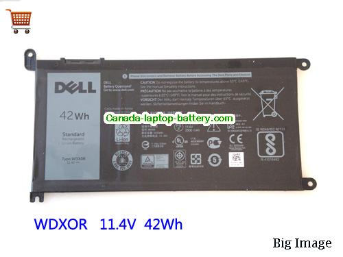 Dell Inspiron 13 5378 Battery 42Wh 11.4V Black Li-ion