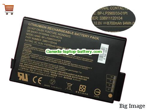 Canada Getac BP-LP2900/33-01PI Laptop Battery 33891112004 8700mah 94Wh