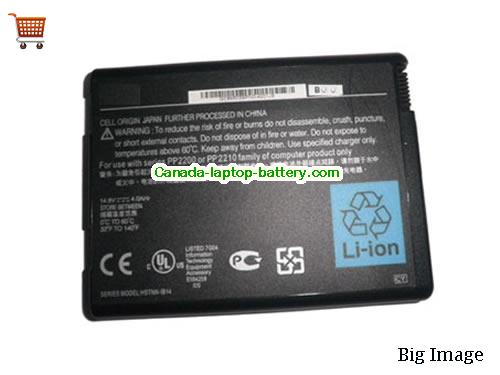 HP HSTNN-IB14 Battery 6600mAh 14.8V Black Li-ion