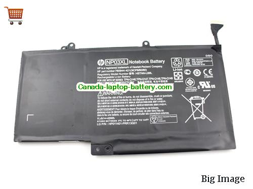 Canada Genuine HP NP03XL HSTNN-LB6L battery for HP ENVY 15-U Series 760944-421 761230-005 Battery 11.1V 43Wh
