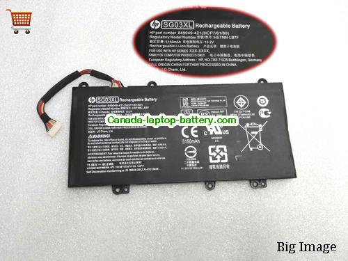 Canada HP SG03XL HSTNN-LB7E Battery 849314-850 11.55V 3450mah
