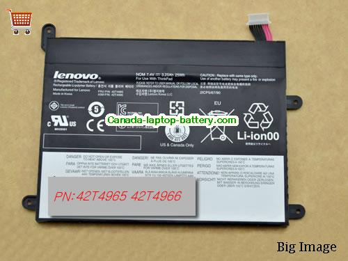 Canada LENOVO 42T4966 battery for Lenovo THINKPAD Tablet 1 1838 10.1IN