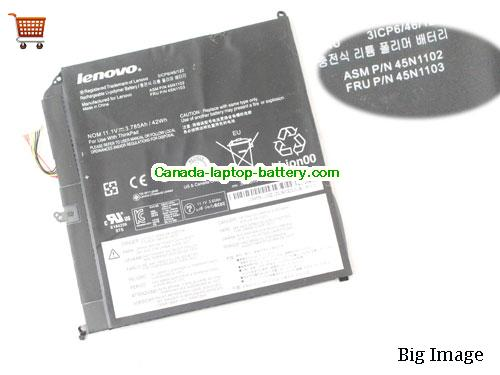 Canada Genuine 45N1102 45N1103 Battery For Lenovo ThinkPad X1 Battery 42Wh