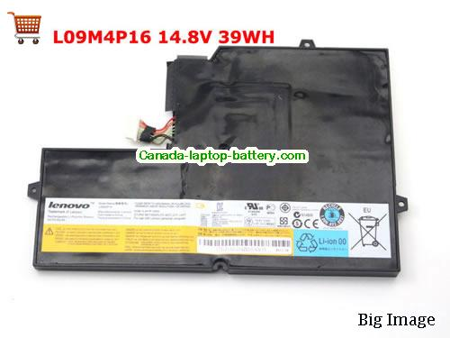 Canada Genuine New LENOVO U260 L09M4P16 Battery 14.8V 39Wh