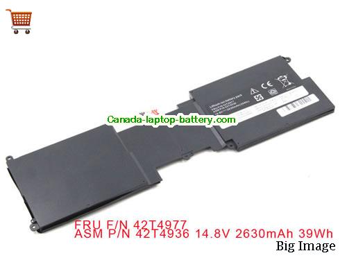 Canada Brand New Lenovo ThinkPad X1 Laptop Battery 42T4936 42T4977 14.8V 39Wh
