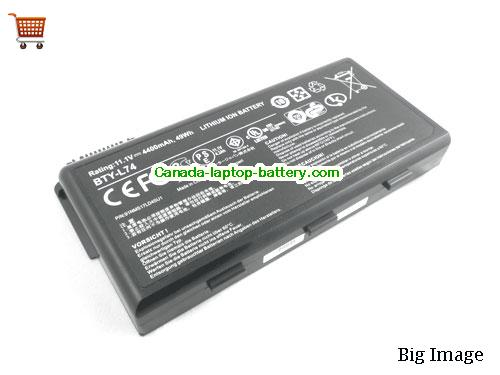 MSI BTY L74 Battery 4400mAh, 49Wh  11.1V Black Li-ion