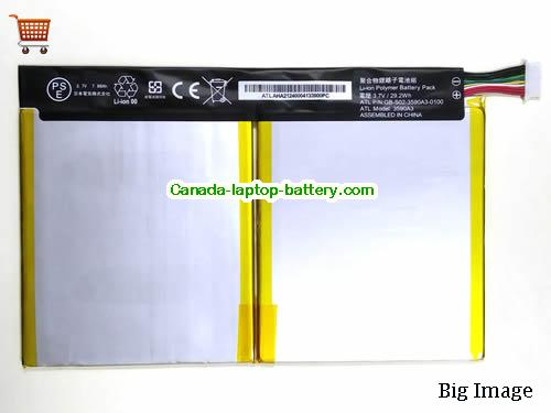 Canada GB-S02-3590A3-0100 Battery 3590A3 For Sony PC Li-Polymer 7880mah 29.2Wh