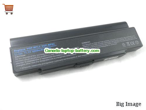 SONY VGP-BPS2 Battery 6600mAh 11.1V Black Li-ion