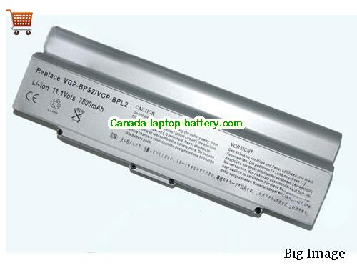 SONY VGP-BPS2 Battery 6600mAh 11.1V Silver Li-ion
