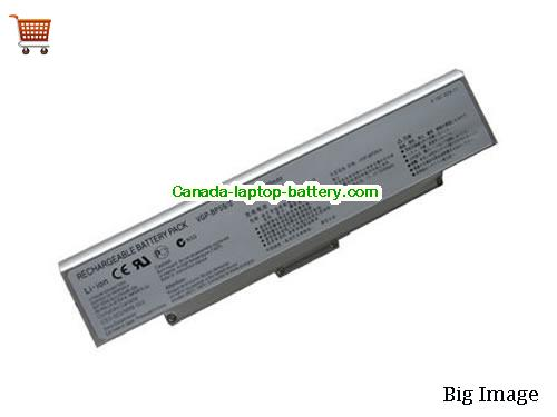 SONY VAIO VGN-CR215E Battery 5200mAh 11.1V Silver Li-ion