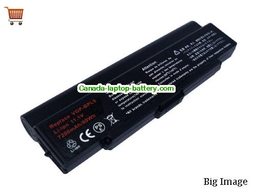 SONY VGP-BPS9/B Battery 6600mAh 11.1V Black Li-ion