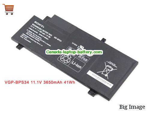Canada Genuine VGP-BPS34 BPS34 Battery For Sony F15A16 F15A16SC VAIO-CA46 SV-T13122CYS CA47 CA48 Series 3650mah