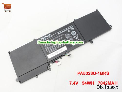 TOSHIBA Satellite U840 Battery 7042mAh, 54Wh  7.4V Black Li-ion