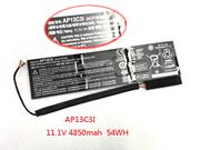 Battery for ACER AP13C3i 11.1v 4850mAh 54Wh Rechargeable Li-polymer Battery Pack in canada