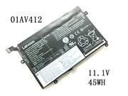 Genuine Lenovo 01AV412 SB10K97569 Battery 45Wh 11.1V