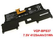 -- Genuine SONY VGP-BPS37 Battery 4125mAh, 31Wh , 7.5V, Black , Li-ion
