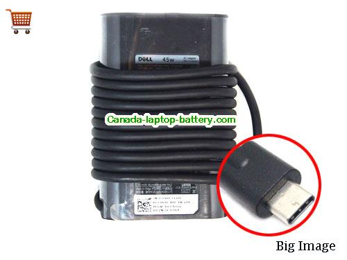 Dell TYPE C Laptop AC Adapter 20V 2.25A 45W