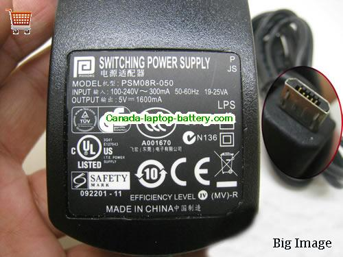 PHIHONG  5V 1.6A Laptop AC Adapter