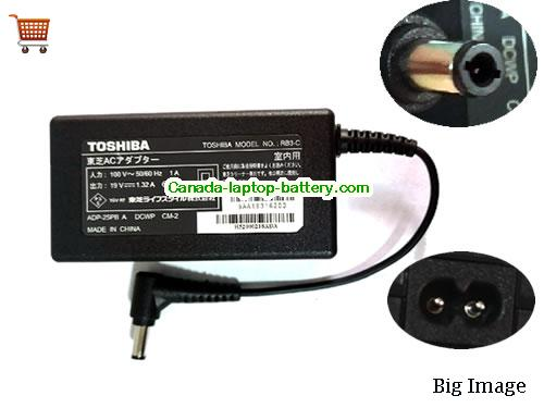 TOSHIBA  19V 1.32A Laptop AC Adapter