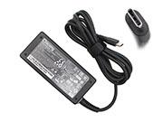 Chicony 20V 2.25A 45W Laptop Adapter, Laptop AC Power Supply Plug Size