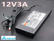 DELTA 12V 3A 36W Laptop Adapter, Laptop AC Power Supply Plug Size 5.5 x 2.1mm