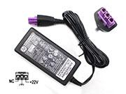 HP 22V 0.455A 10W Laptop Adapter, Laptop AC Power Supply Plug Size