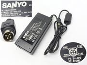 SANYO 12V 5A 60W Laptop Adapter, Laptop AC Power Supply Plug Size